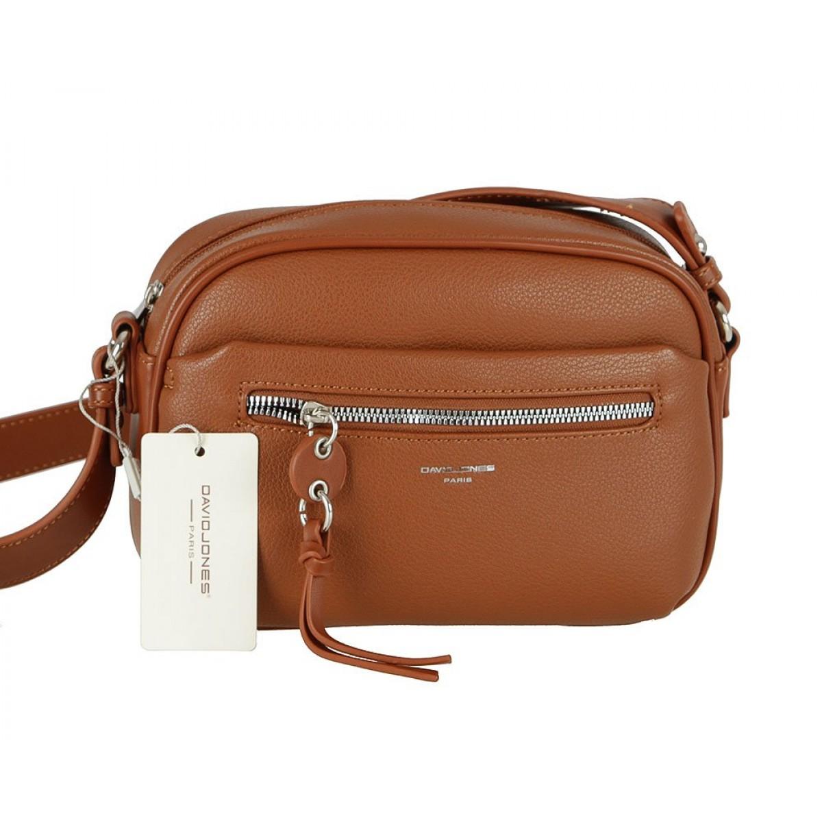 Жіноча сумка David Jones 6418-1 COGNAC