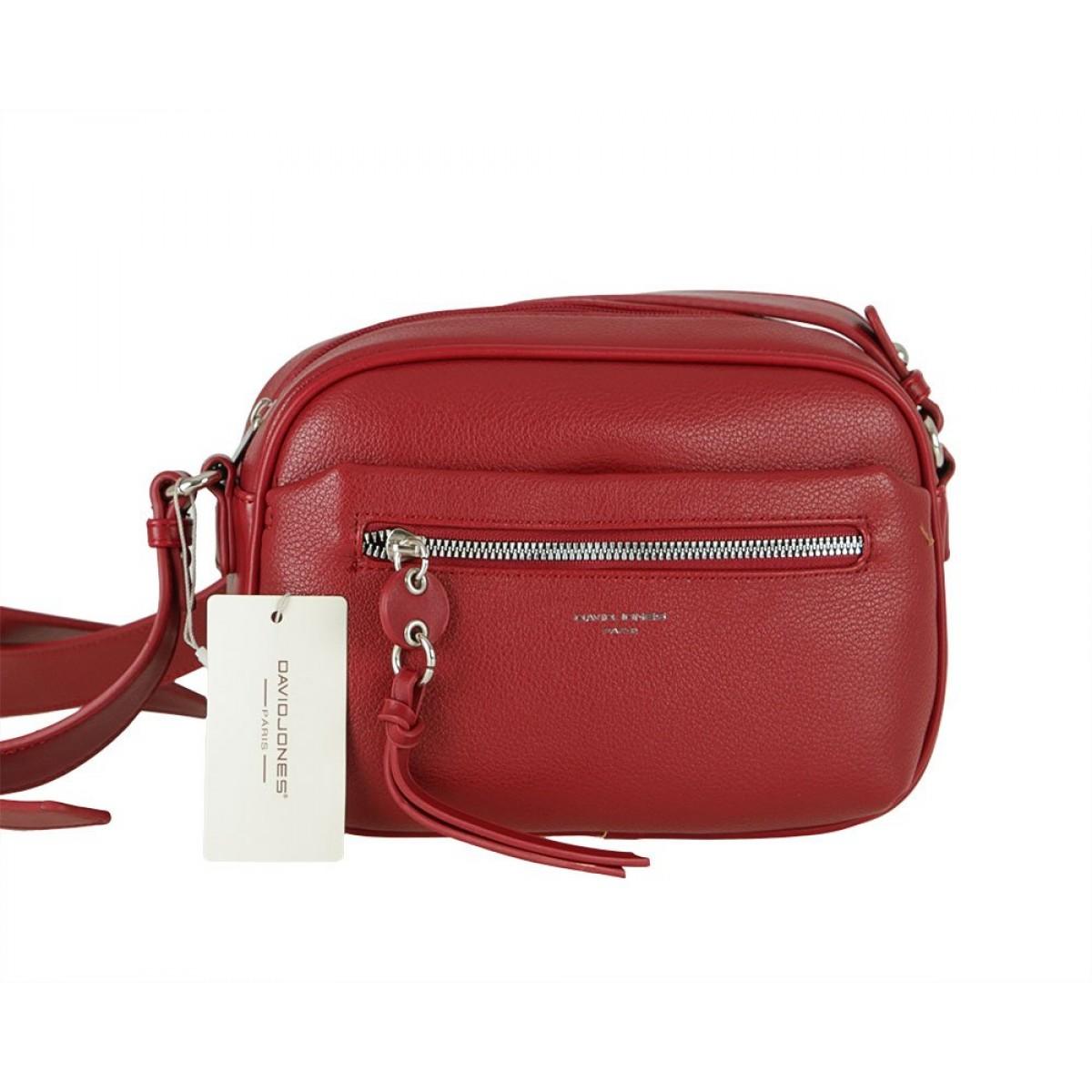 Жіноча сумка David Jones 6418-1 DARK RED
