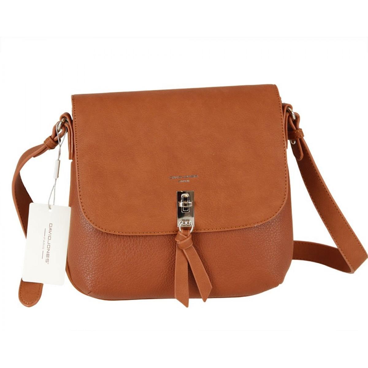 Жіноча сумка David Jones 6425-1 COGNAC