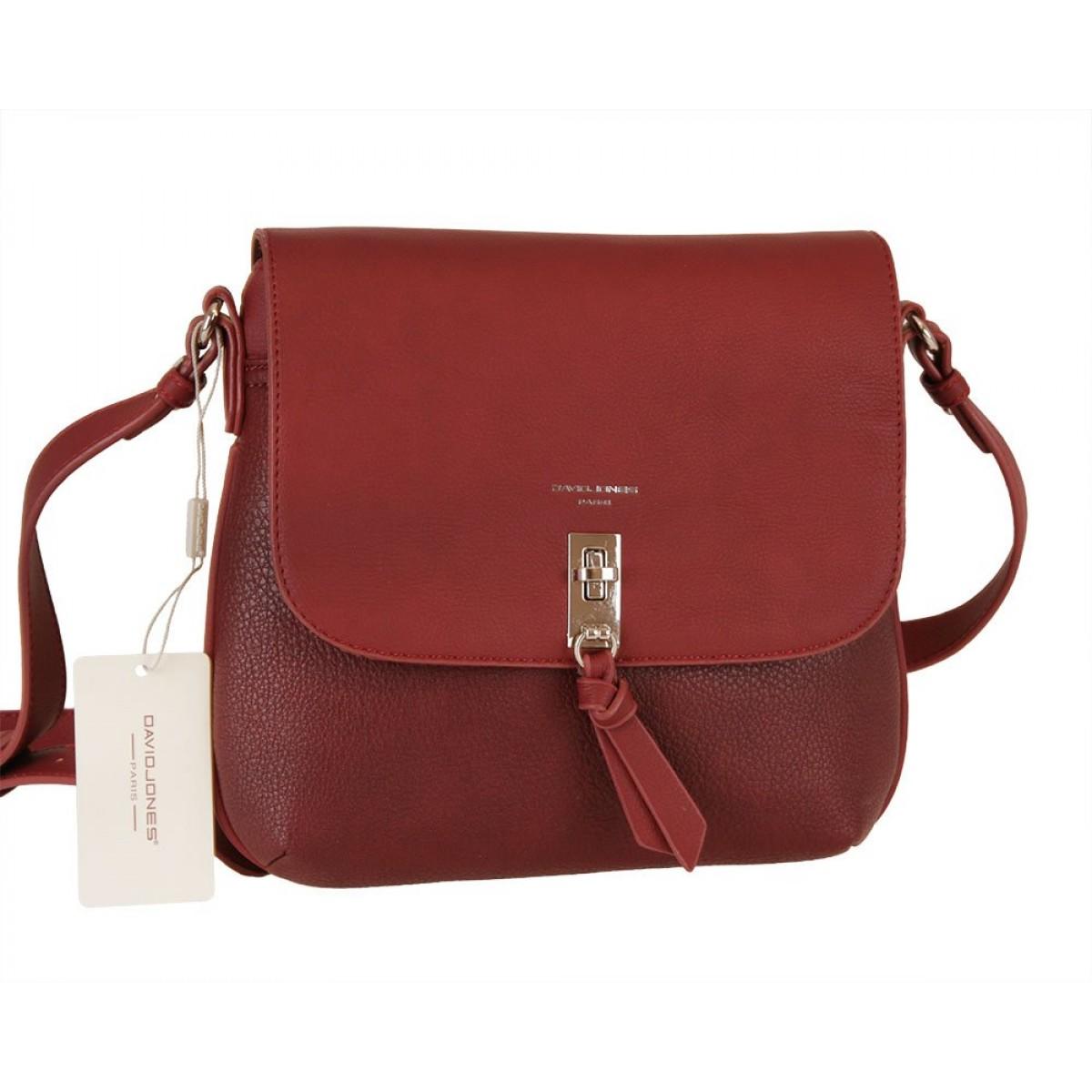 Жіноча сумка David Jones 6425-1 DARK BORDEAUX