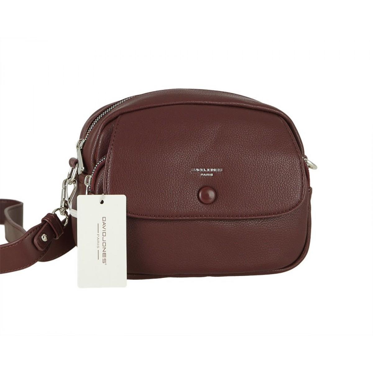 Жіноча сумка David Jones 6428-1 DARK BORDEAUX