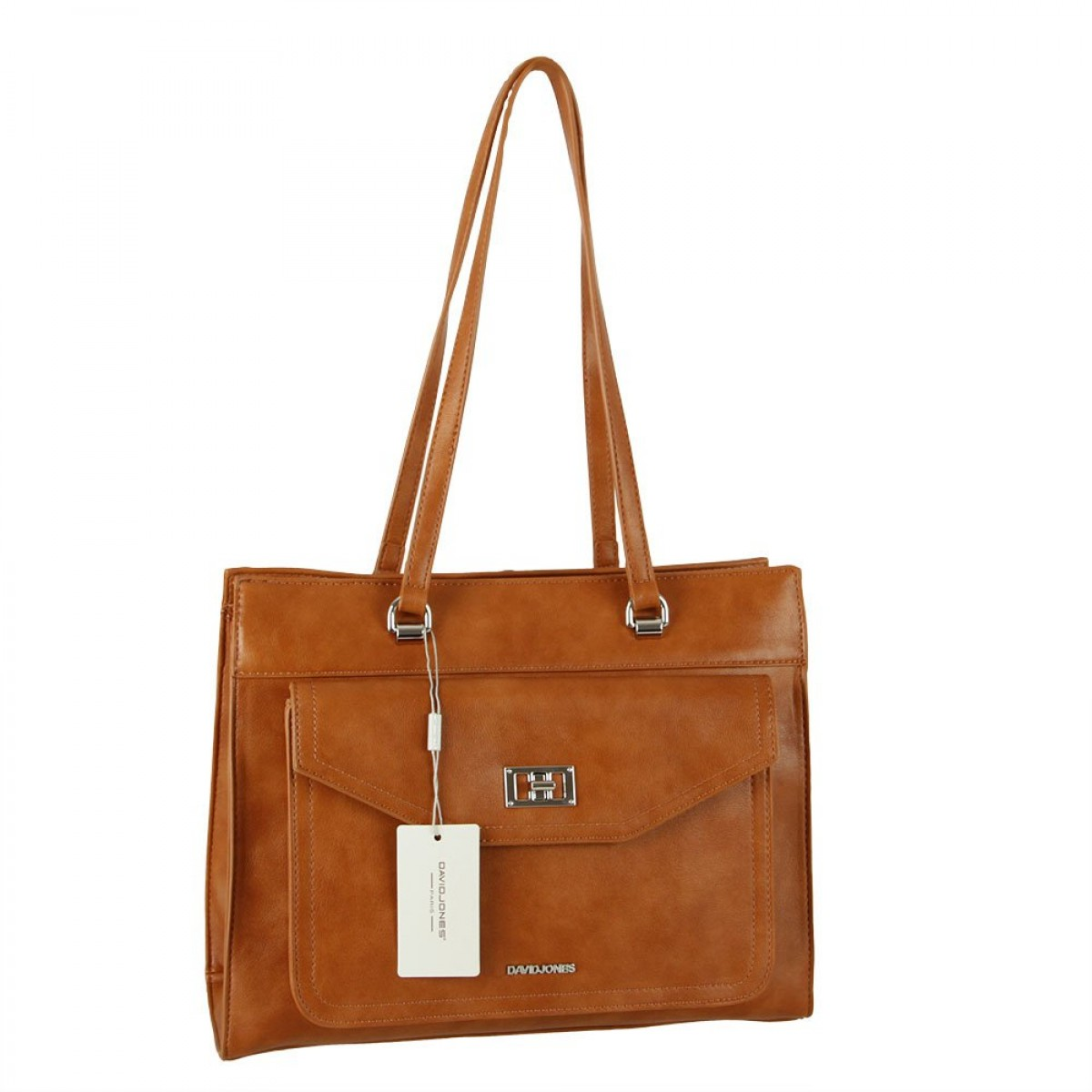 Жіноча сумка David Jones 6437-3 COGNAC