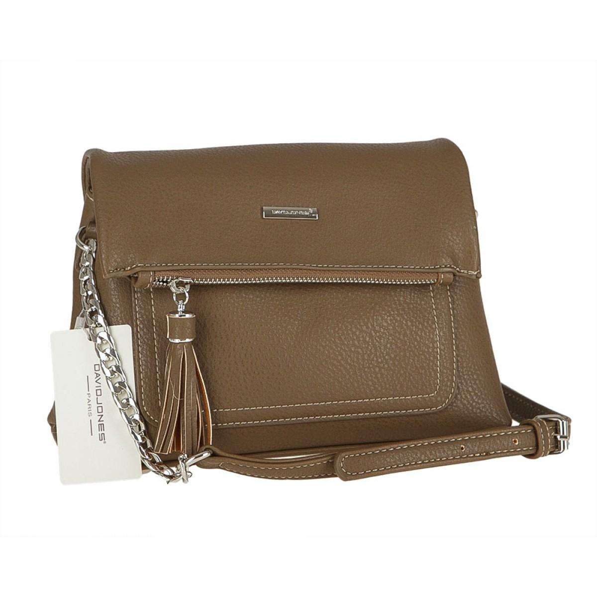 Жіноча сумка David Jones CM3501 D.CAMEL