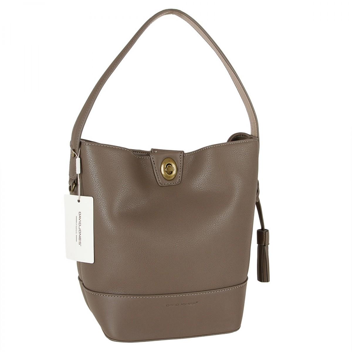 Жіноча сумка David Jones CM3923 D.TAUPE
