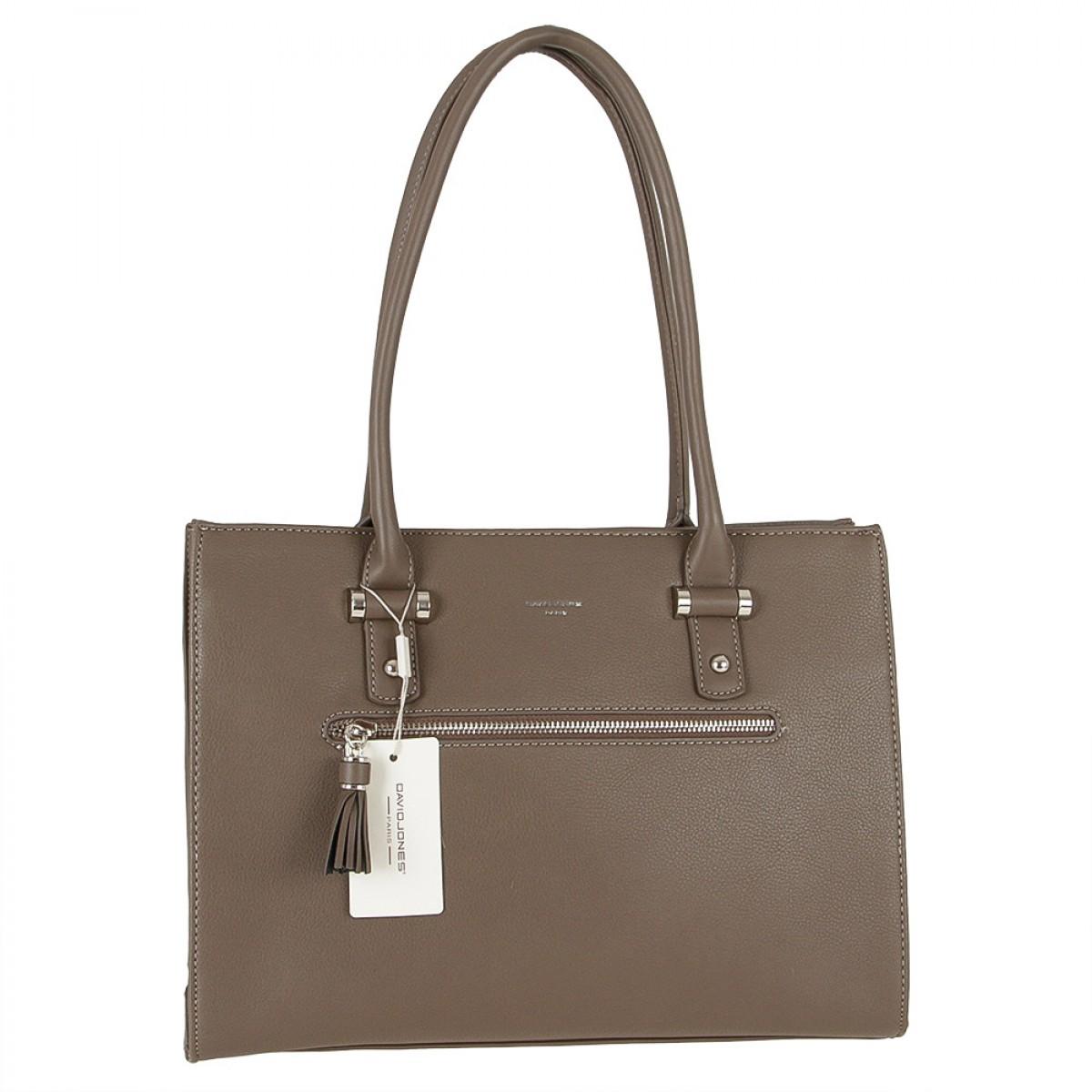 Жіноча сумка David Jones CM3930 D.TAUPE