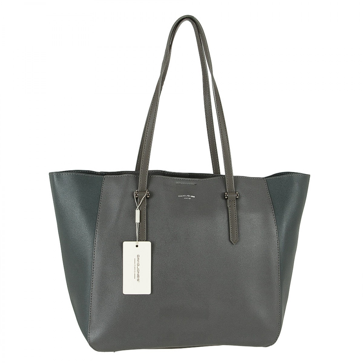 Жіноча сумка David Jones CM3941 D.GREY/PEACOOK BLUE
