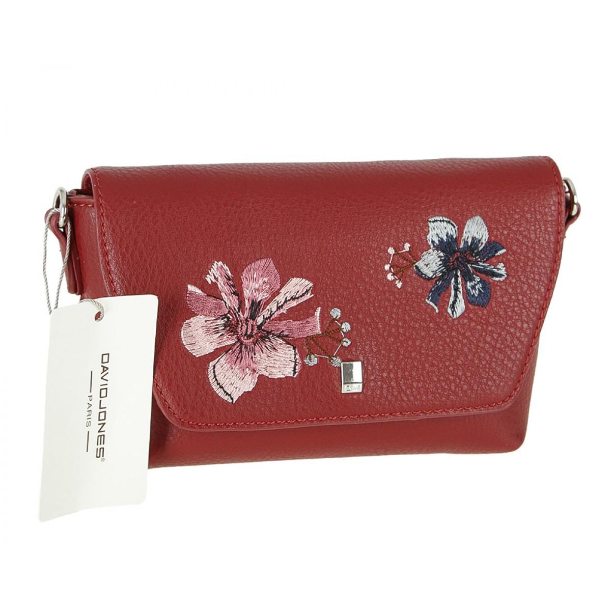 Жіноча сумка David Jones CM4066 DARK RED