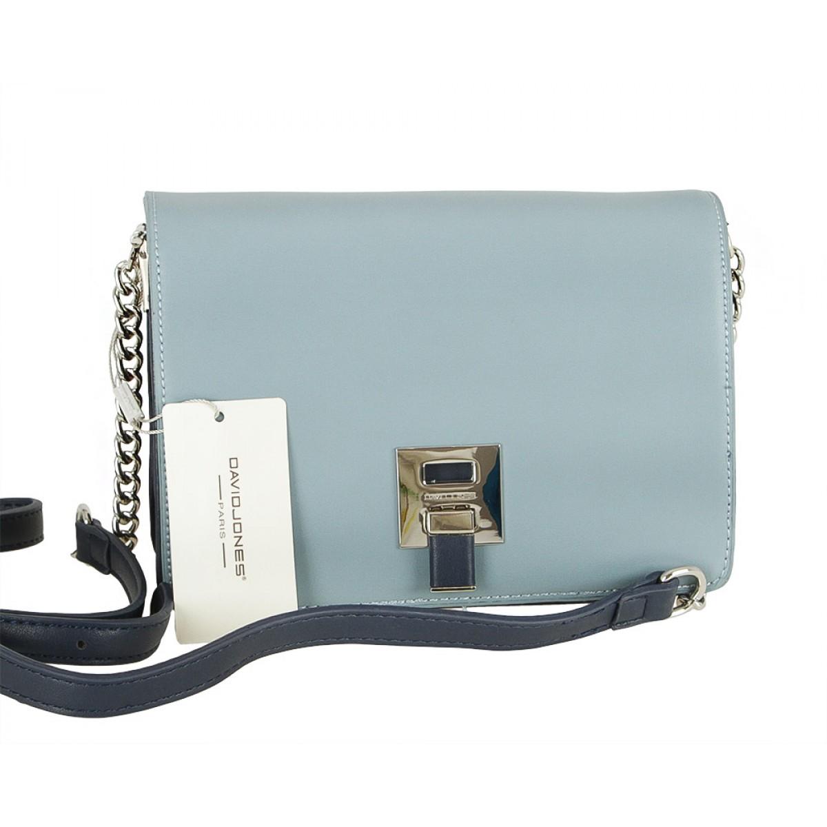 Жіноча сумка David Jones CM5008 PALE BLUE/D.BLUE