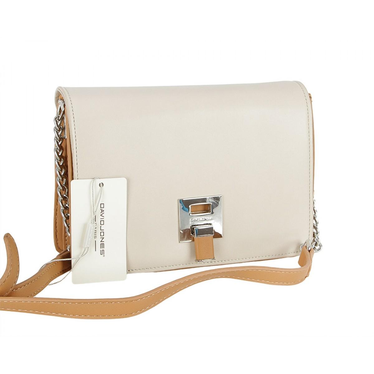 Жіноча сумка David Jones CM5008 BEIGE/CARAMEL