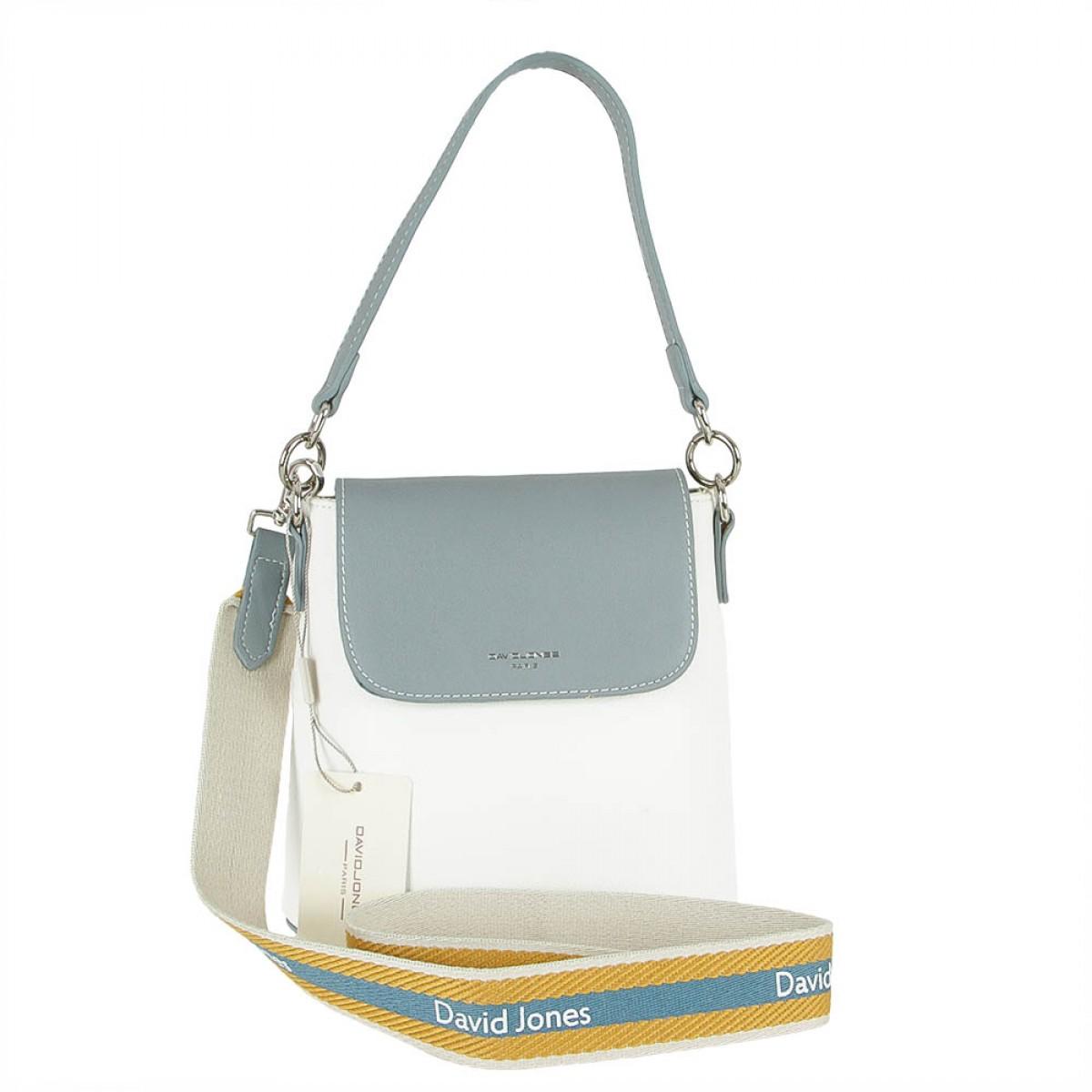 Жіноча сумка David Jones CM5021 L.BLUE/WHITE