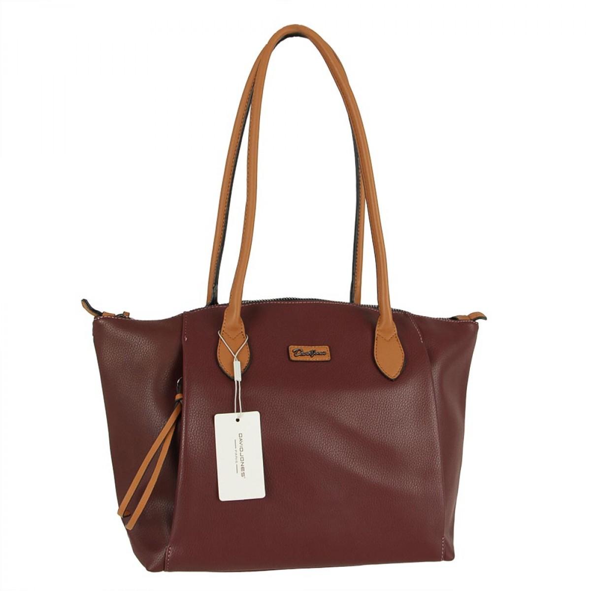 Жіноча сумка David Jones CM5332 DARK BORDEAUX
