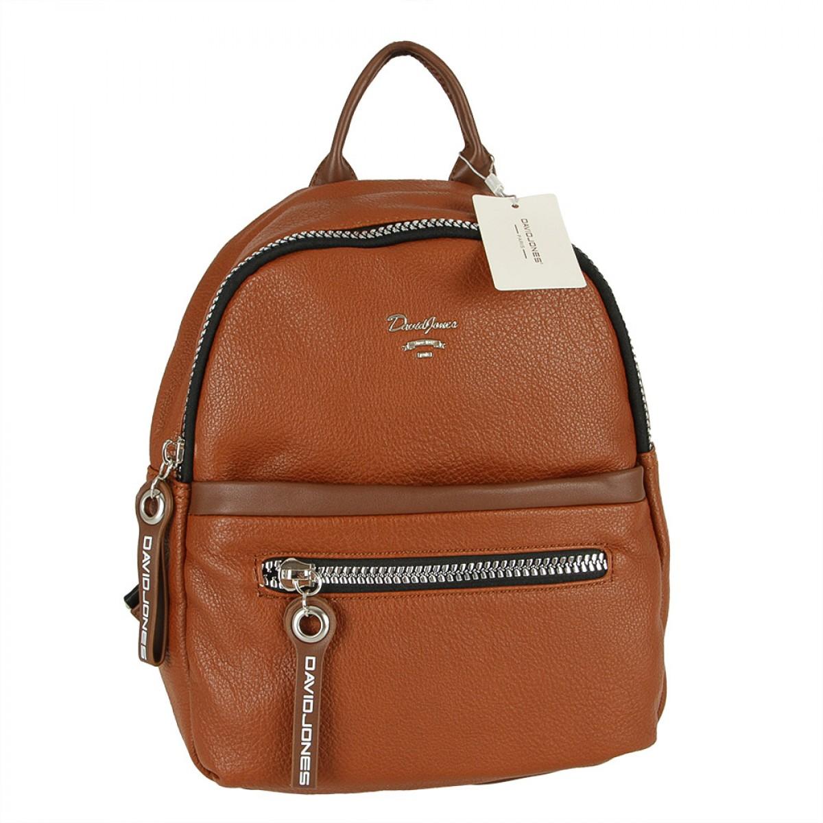 Жіночий рюкзак David Jones CM5344 COGNAC