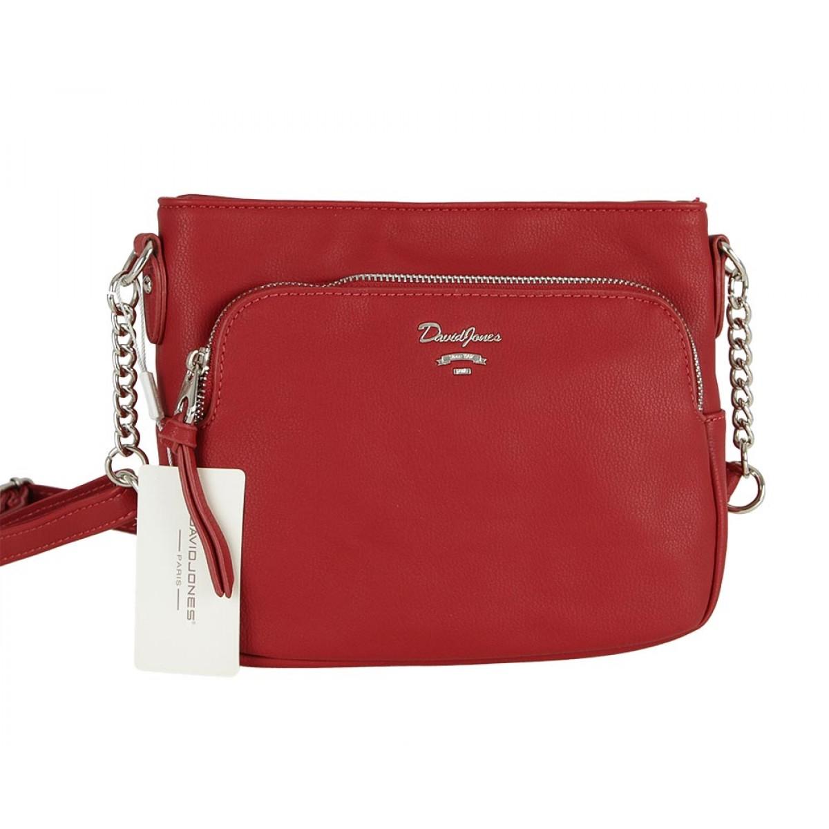Жіноча сумка David Jones CM5346 DARK RED