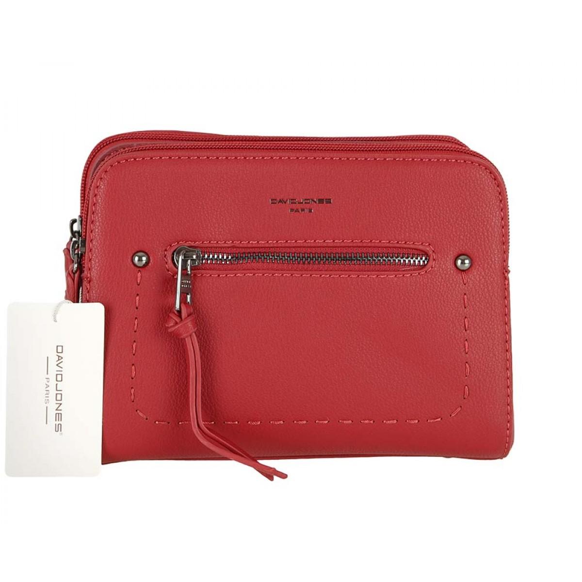 Жіноча сумка David Jones CM5386 DARK RED