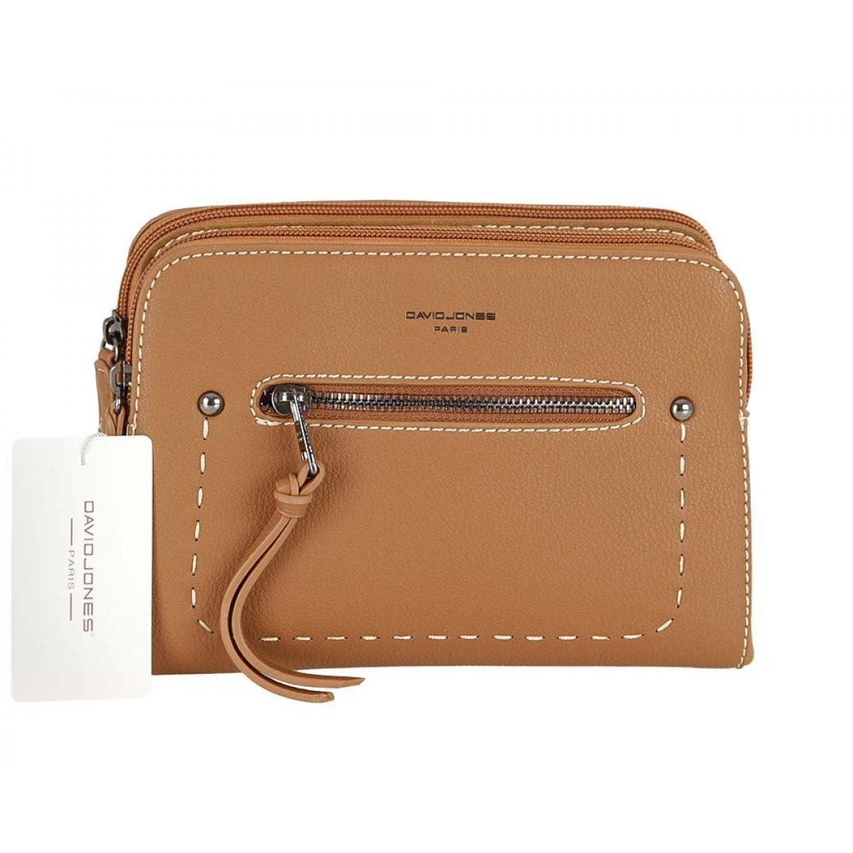 Жіноча сумка David Jones CM5386 COGNAC
