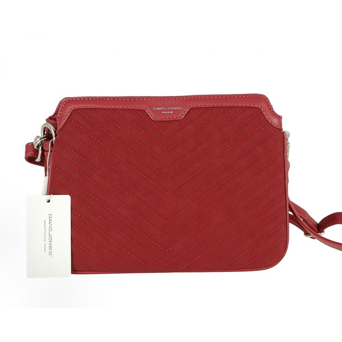 Жіноча сумка David Jones CM5411 DARK RED