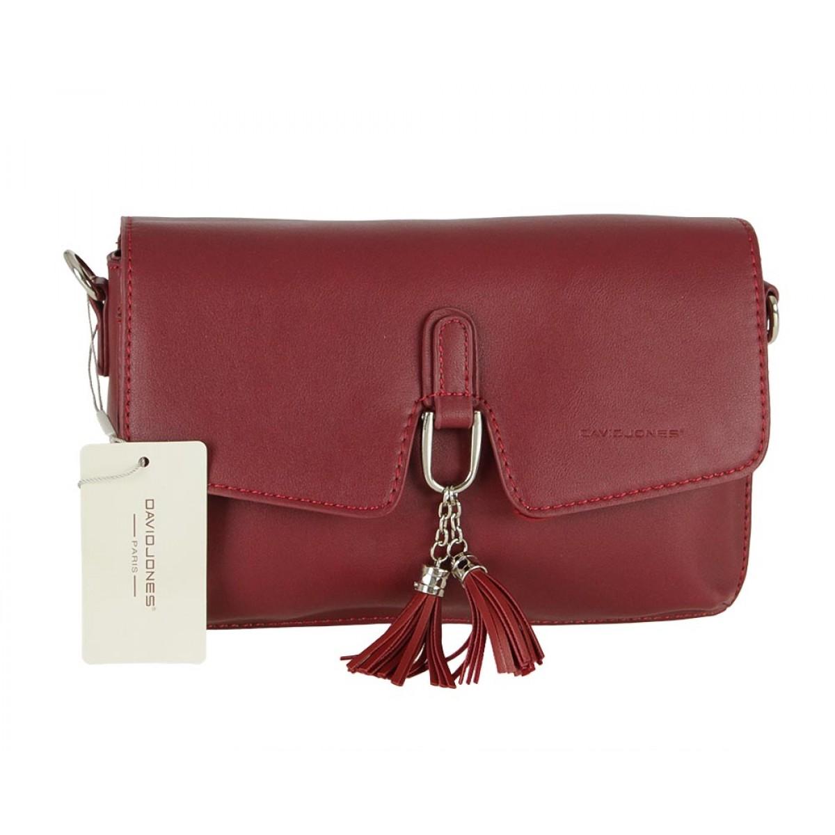 Жіноча сумка David Jones CM5414 DARK RED