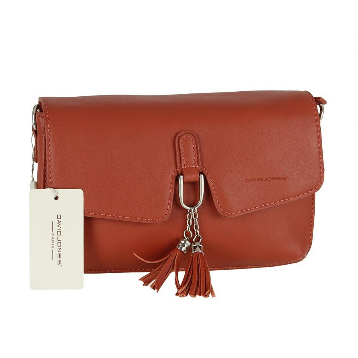 Жіноча сумка David Jones CM5414 CARAMEL RED
