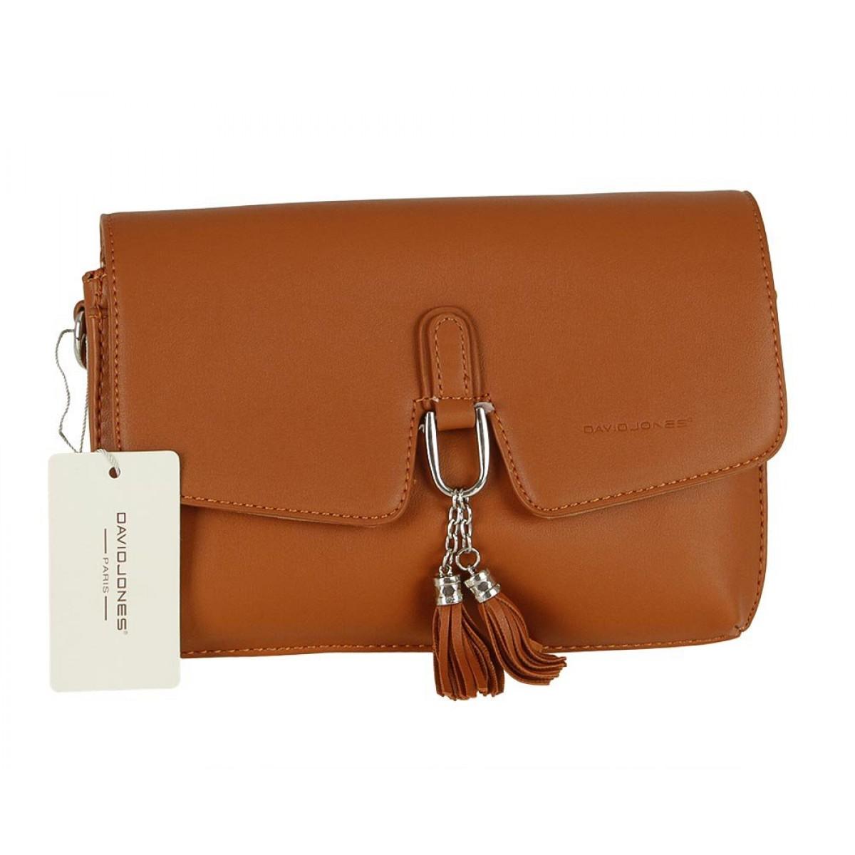 Жіноча сумка David Jones CM5414 COGNAC