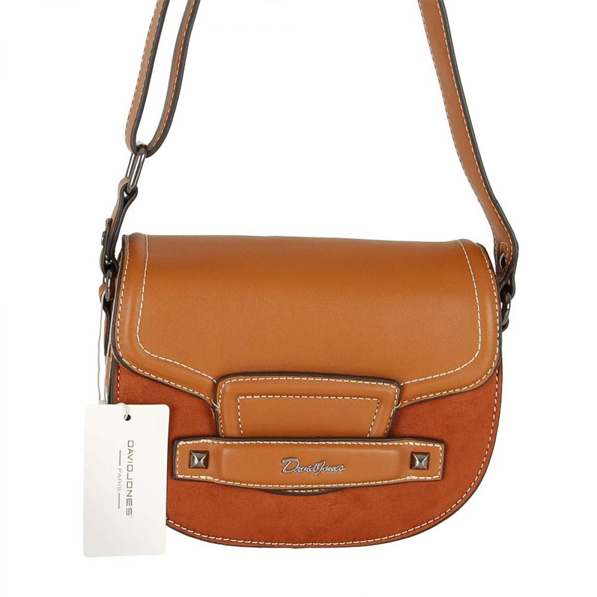 Жіноча сумка David Jones CM5415 COGNAC