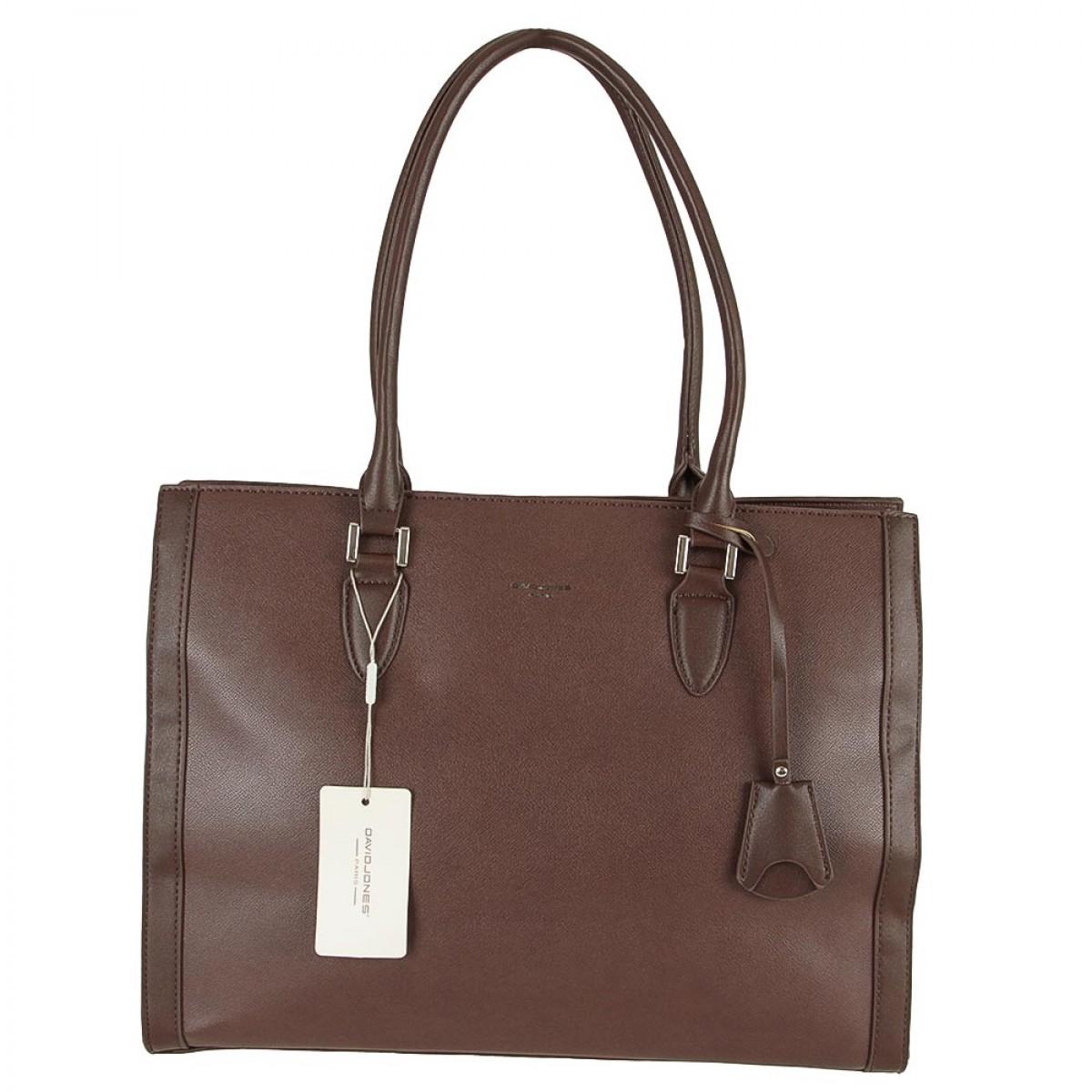 Жіноча сумка David Jones CM5452 D.BROWN