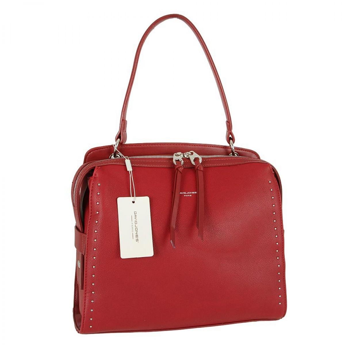 Жіноча сумка David Jones CM5459 DARK RED