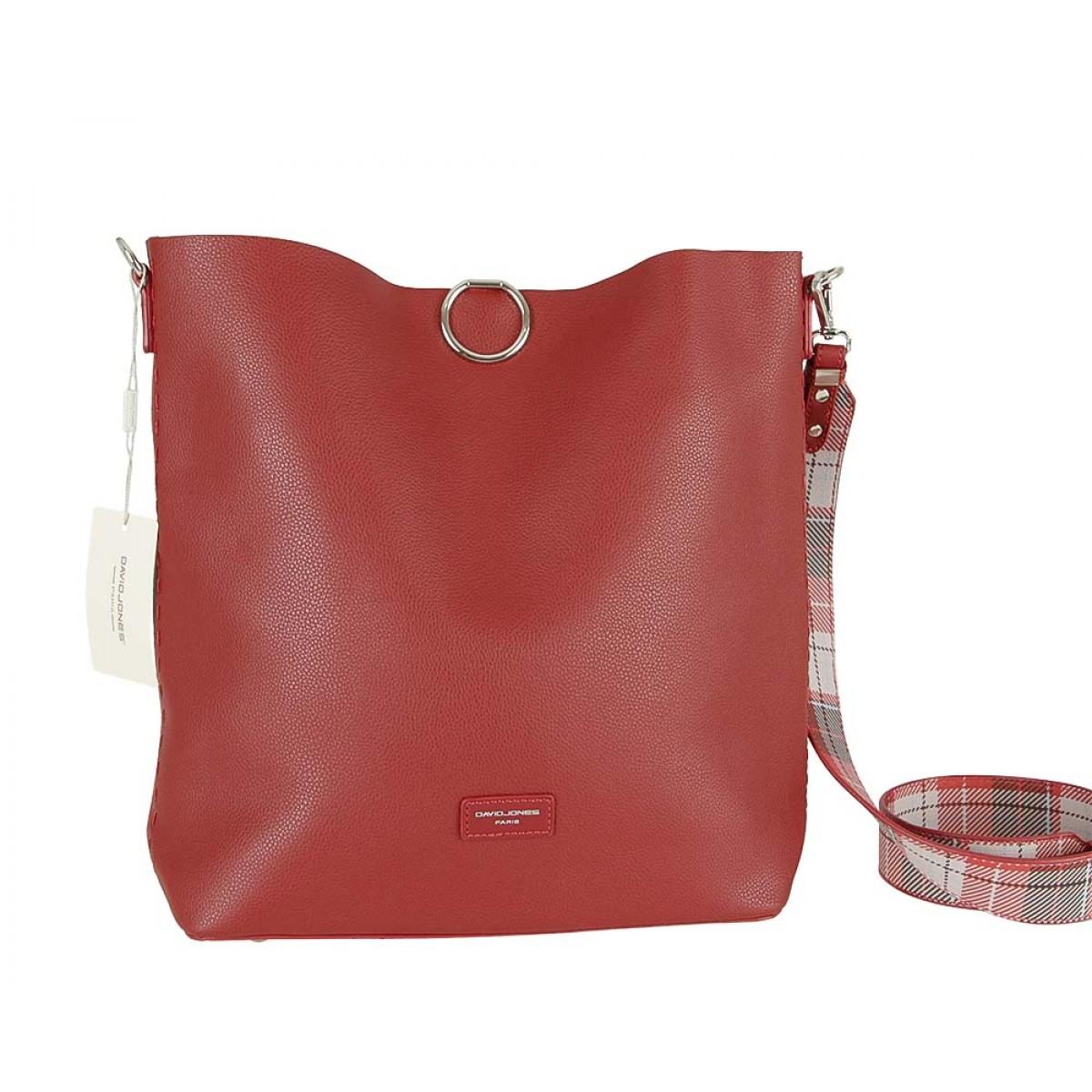 Жіноча сумка David Jones CM5468 DARK RED