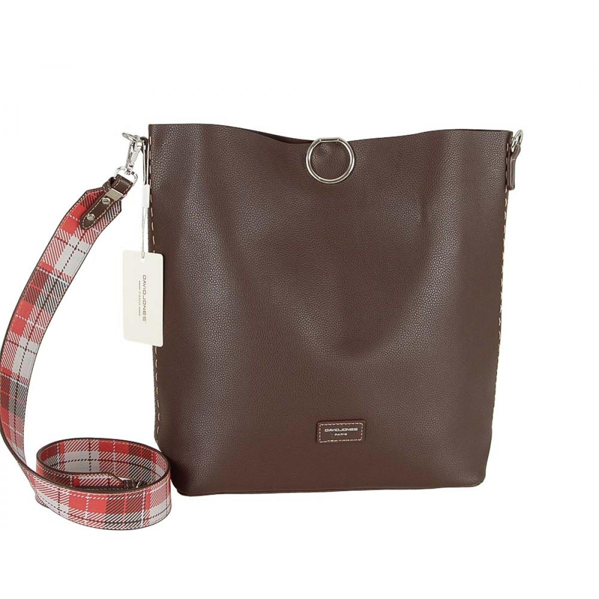 Жіноча сумка David Jones CM5468 D.BROWN