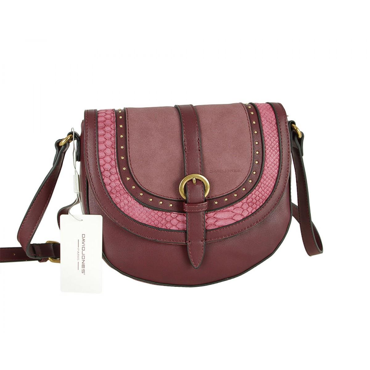 Жіноча сумка David Jones CM5495 BORDEAUX