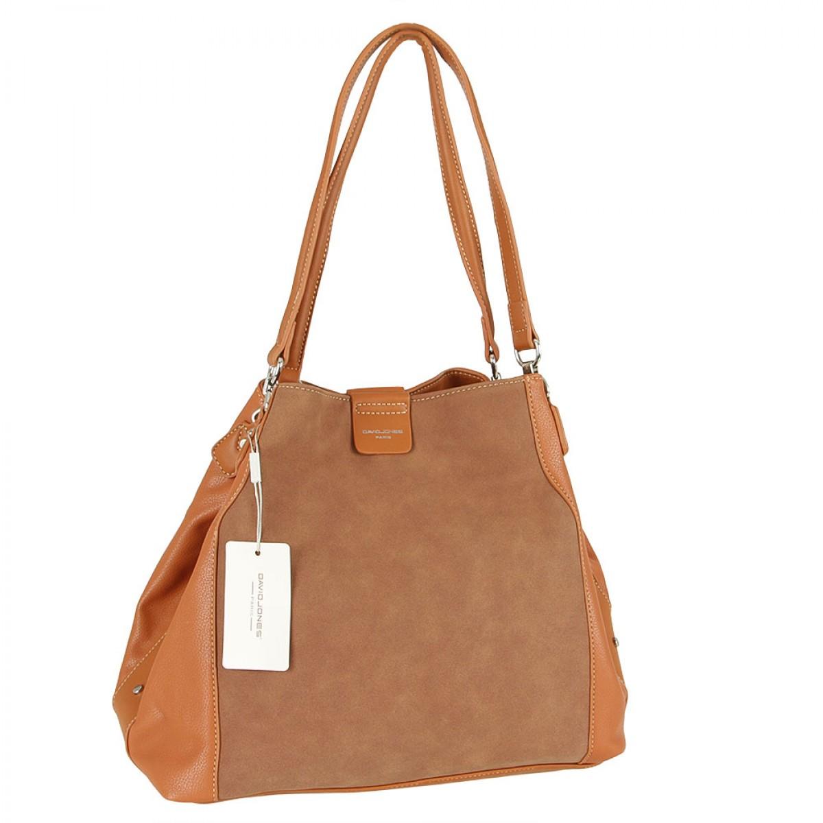 Жіноча сумка David Jones CM5502 COGNAC