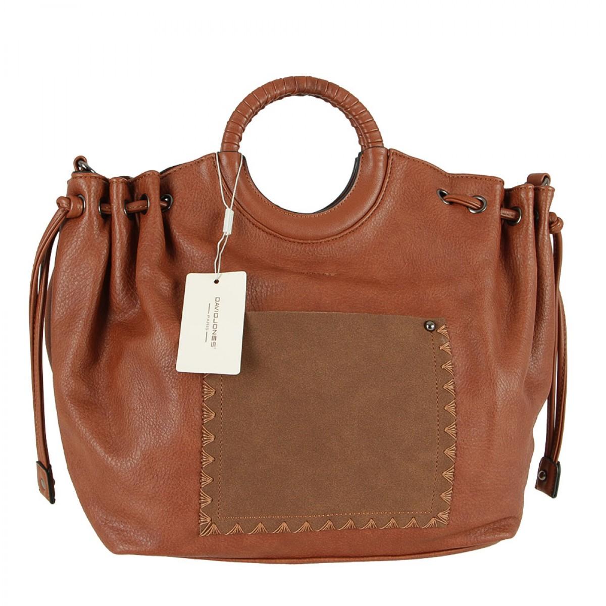 Жіноча сумка David Jones CM5508 COGNAC