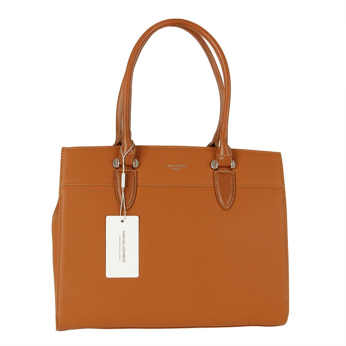 Жіноча сумка David Jones  CM5626 COGNAC