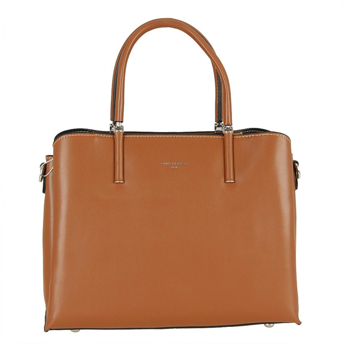 Жіноча сумка David Jones CM5631 COGNAC