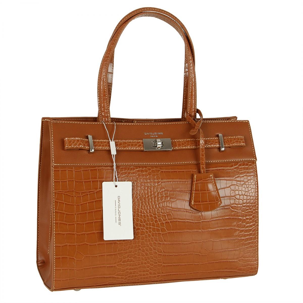 Жіноча сумка David Jones CM5634 COGNAC