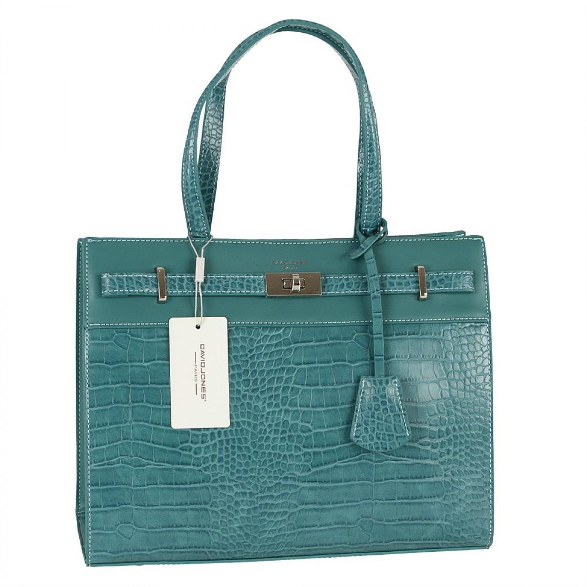 Жіноча сумка David Jones CM5634 PEACOCK BLUE