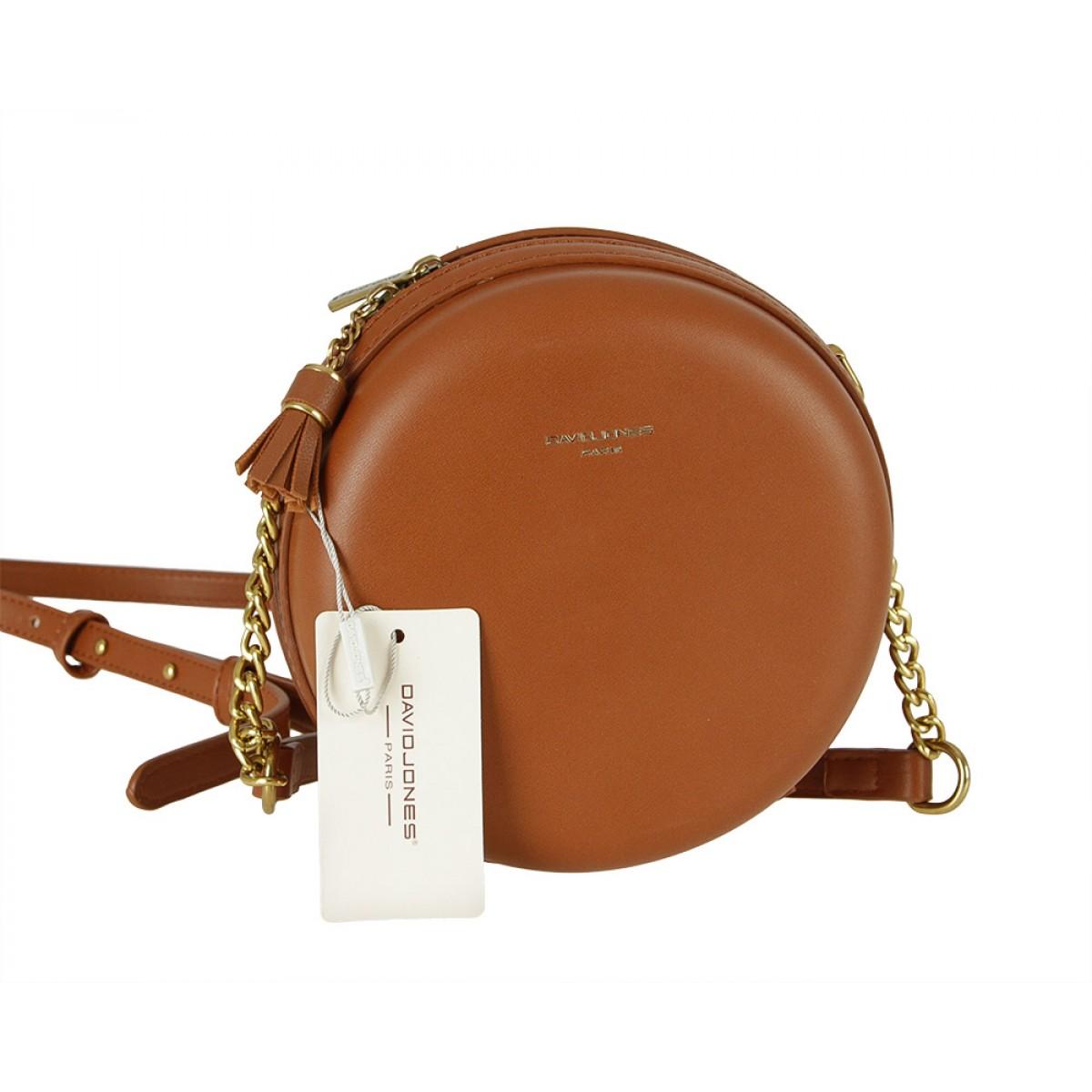 Жіноча сумка David Jones CM5658 COGNAC