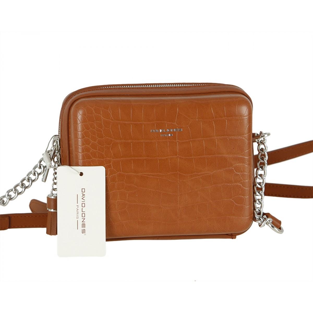 Жіноча сумка David Jones CM5660 COGNAC