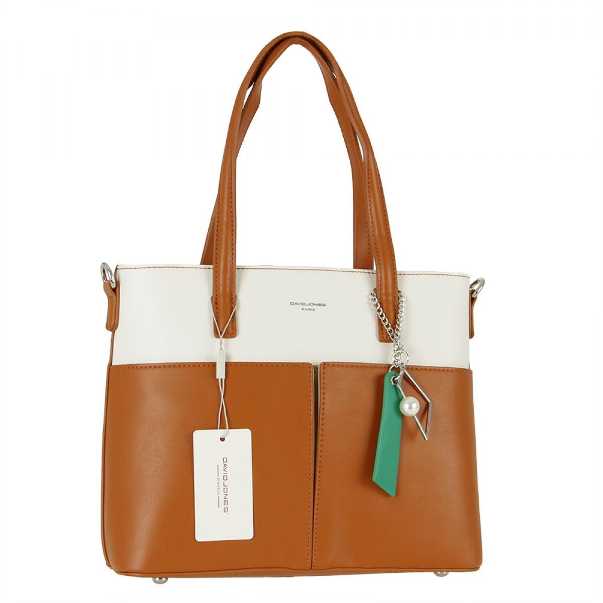 Жіноча сумка David Jones CM5676 COGNAC