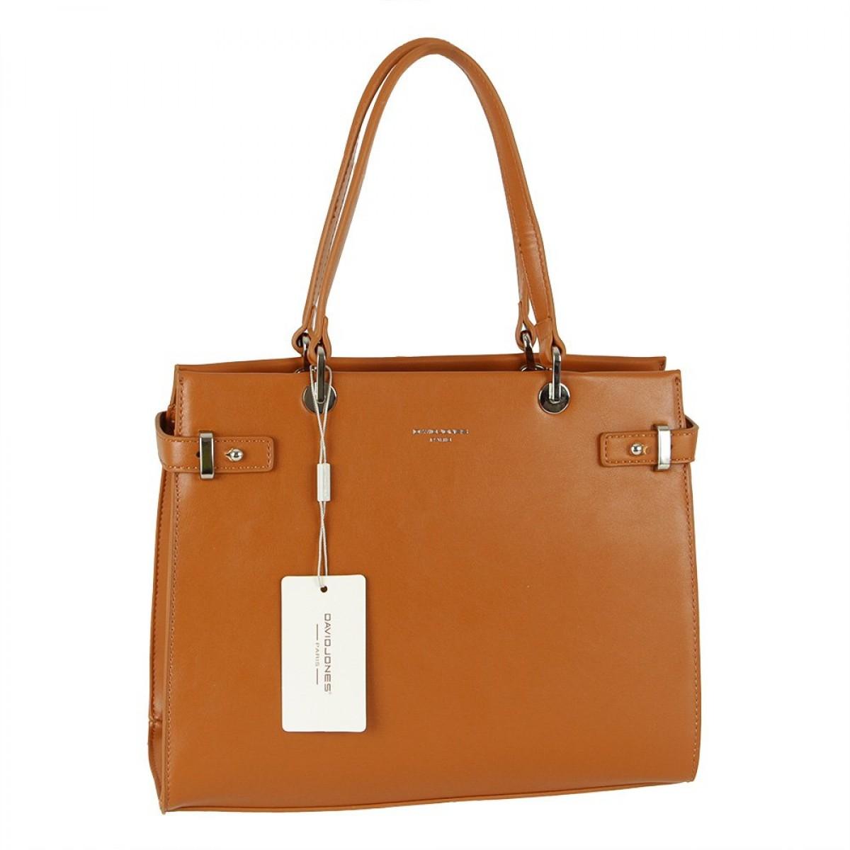 Жіноча сумка David Jones CM5693 COGNAC