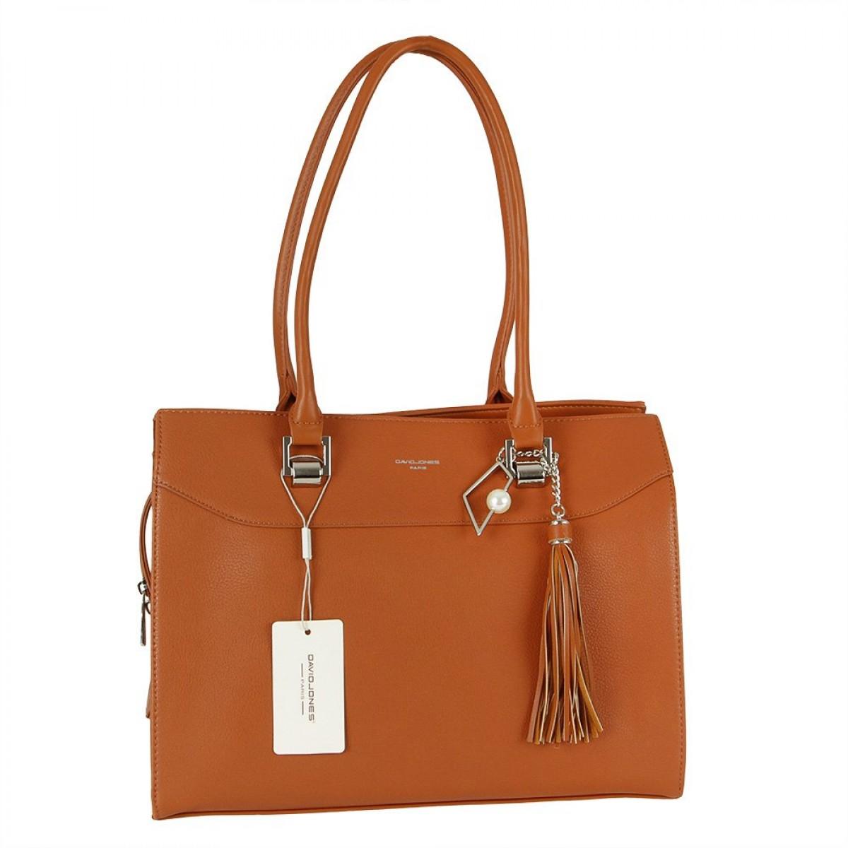 Жіноча сумка David Jones CM5705 COGNAC