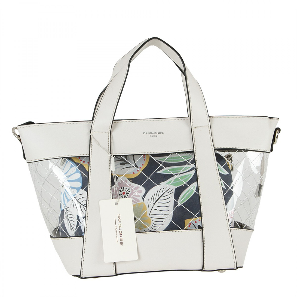Жіноча сумка David Jones CM5717 CREAMY GREY