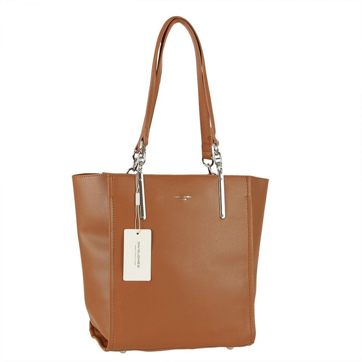 Жіноча сумка David Jones CM5719 COGNAC