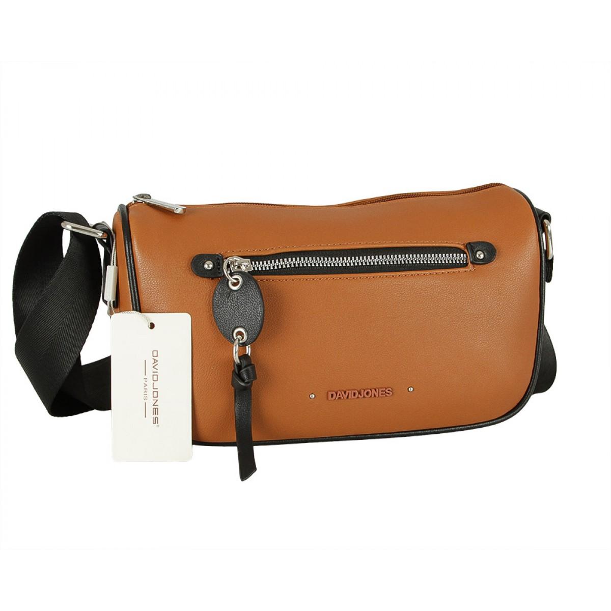 Жіноча сумка David Jones CM5738 COGNAC