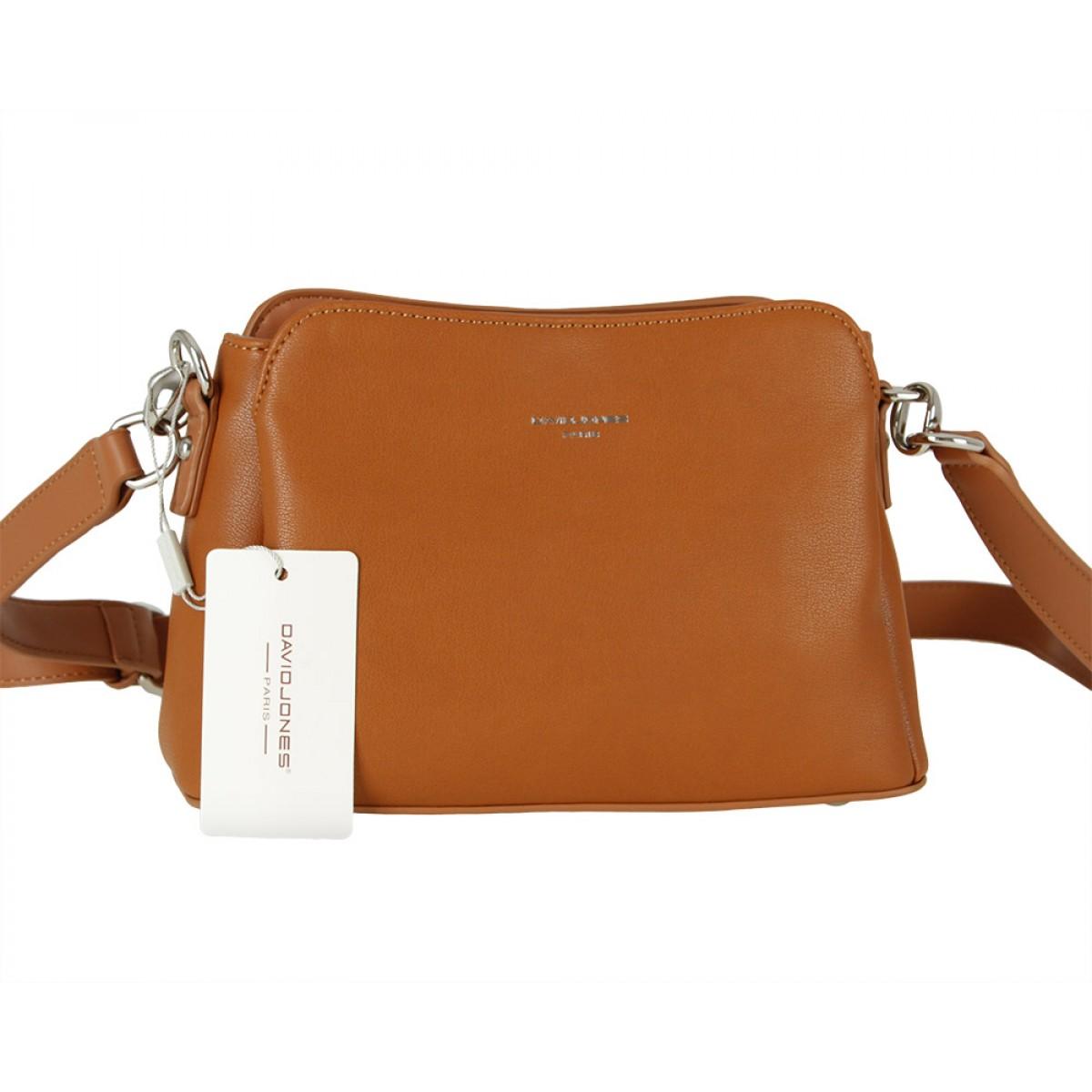 Жіноча сумка David Jones CM5744 COGNAC