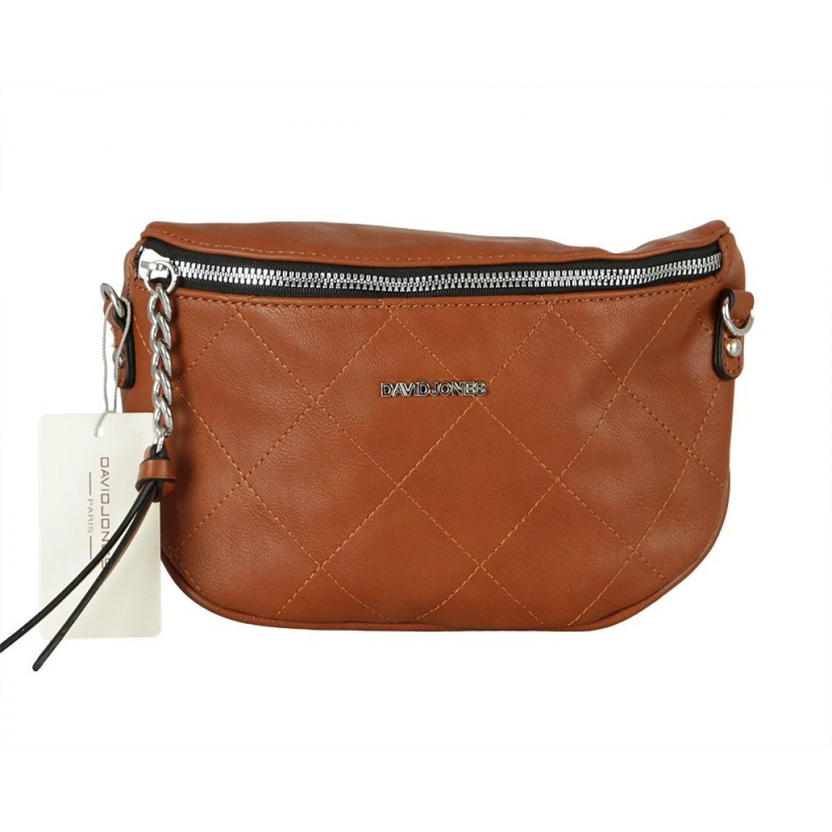 Жіноча сумка David Jones CM5771 COGNAC