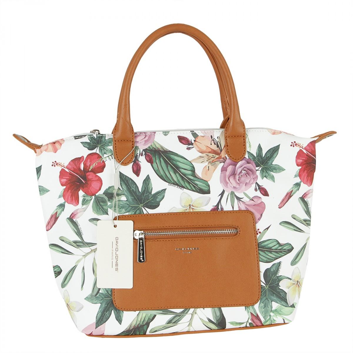 Жіноча сумка David Jones CM5778 COGNAC