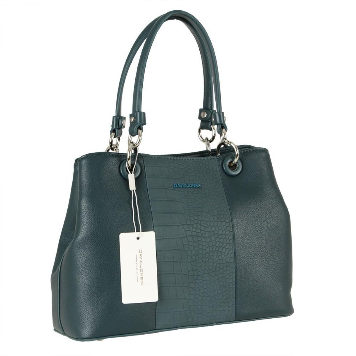Жіноча сумка David Jones CM5816 PEACOCK BLUE