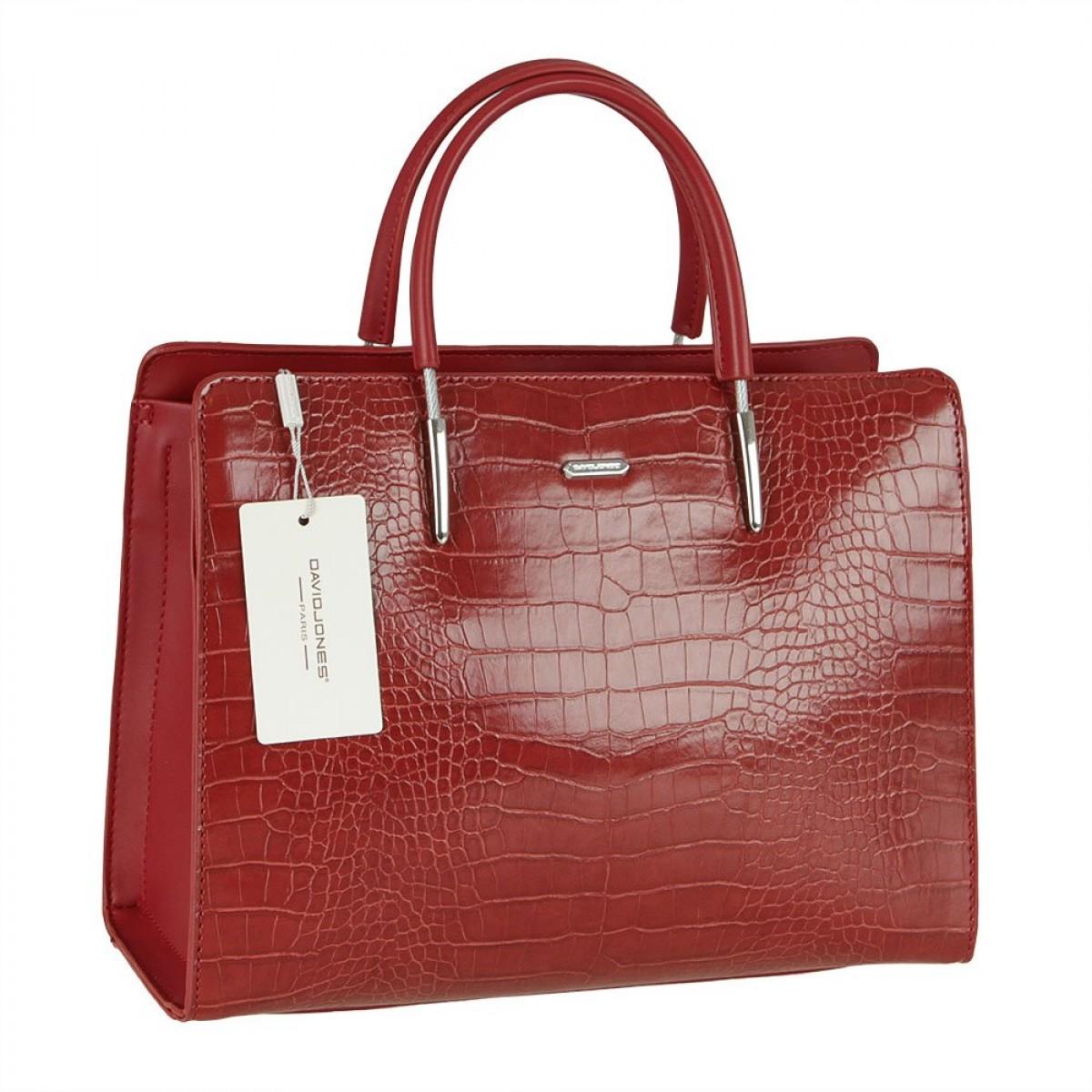 Жіноча сумка David Jones CM5820 DARK RED