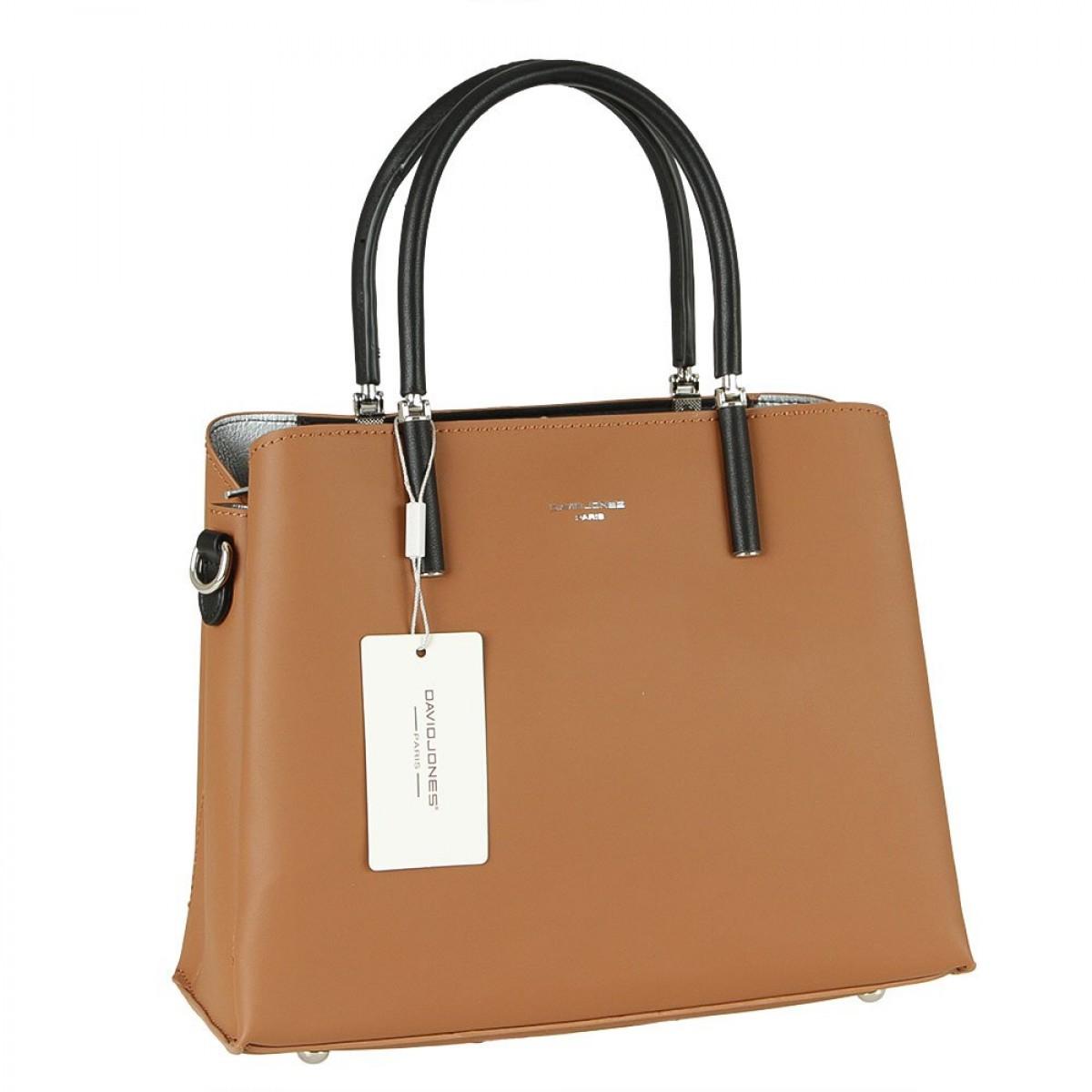 Жіноча сумка David Jones CM5827 COGNAC
