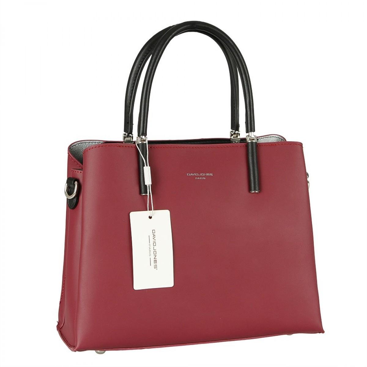 Жіноча сумка David Jones CM5827 DARK BORDEAUX